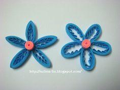 Lin Handmade Greetings Card: Tiny loops flower tutorial