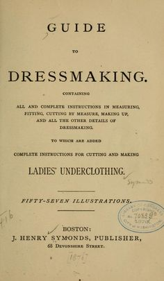 Guide to dressmaking (1876)