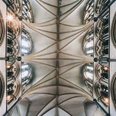 """""""Spiritual emptiness is a universal disease."""" - Rick Warren. Cathedral ceilings, photographed by David Stephenson. [photography, churches, vault]"""