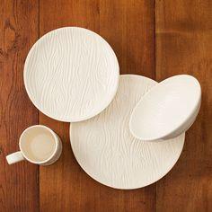 PORCELAIN FAUX BOIS DISHWARE COLLECTION   porcelain plates, dishes, bowls   UncommonGoods
