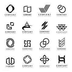Laden Sie den Premium-Vektor Set of company logo design ideas vector 495796 herunter company logo - Brand Logos Logos Vintage, Logos Retro, Logo Marketing, Marketing Quotes, Graphisches Design, Icon Design, Design Ideas, Logo Branding, Branding Design