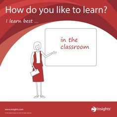 How do you like to learn? Fiery Red colour energy