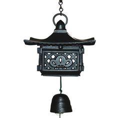 Japanese Nambu Cast Iron Pagoda Furin Wind Chimes with Bell, Made in Japan Yokohama Gifts