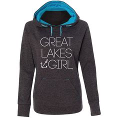 Are you a Great Lakes Girl?  Feel the comfort of this soft and stylish hoodie, and stay warm on the Great Lakes!