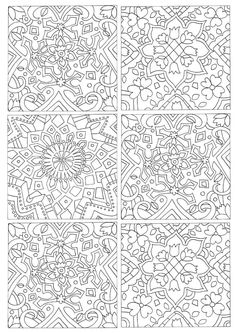 Color Tile Adult Coloring Books Pages Repeating Patterns Crayon Art Colouring In Vintage Quote