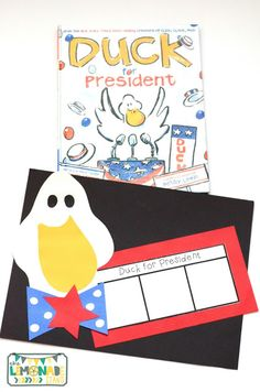This Presidents' Day pack is the perfect ELA unit for the week of Presidents' Day. It's full of Presidents' Day crafts, Presidents' Day activities, and has a focus on identifying key ideas and details in text. Great for kindergarten through second grade. Presidents Day craft | art | education | Duck for President craft