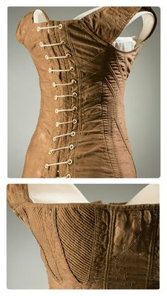 1815 Regency cotton sateen corset stays