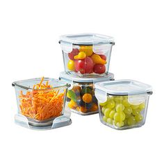 Glass Containers With Lids, Food Containers, Lehenga Saree Design, Space Saving Storage, Food Storage, Dog Food Recipes, Seal, Dishwasher, Crafts