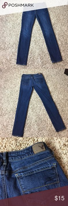 American Eagle Skinny Stretch Jeans American Eagle Skinny Stretch Jeans | Only worn a few times. In great condition. | Size: 4 Inseam: 28 | Make me and offer. I ❤ Offers! American Eagle Outfitters Jeans Skinny