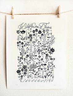 This black and white print is one of my favorites and ties together the black in the appliances with the natural landscape in the area we live!  I love the wildflowers in the Texas Hill Country during spring! Wildflowers of Texas Poster by Leah Duncan #LGLimitlessDesign #Contest