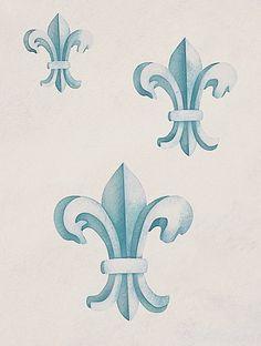 Stencils | Fleur de Lis Classic Stencil Set | Royal Design Studio