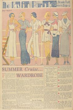 Just Skirts and Dresses: 1934 summer cruise wardrobe - article