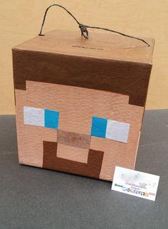 Super Cool Mine Craft Steve Head Pinata                                                                                                                                                      More