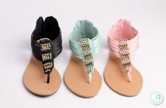 GroopDealz   Cleopatra Beaded Flat Sandal - 3 Colors! Flat Shoes, Flat Sandals, Shoes Sandals, Best Flats, My Cup Of Tea, Cleopatra, Girly Outfits, Your Shoes, Skirt Fashion