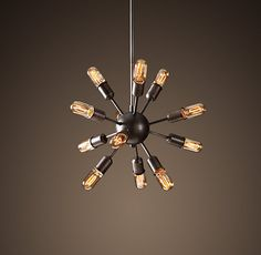 """After lusting after this for months, finally pulled the trigger: """"Sputnik Filament Chandelier Aged Steel (Small)"""""""