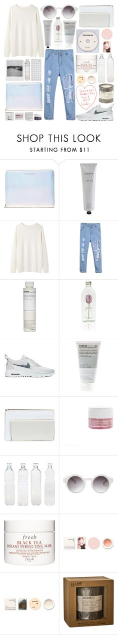 """""""strawberry wine"""" by jesicacecillia ❤ liked on Polyvore featuring Marc by Marc Jacobs, Rodin, Base Range, Korres, NIKE, River Island, Seletti, Monki, KEEP ME and Fresh"""