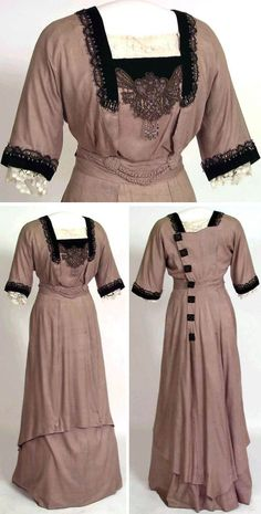 Dress, 1914. Silk, machine-made tulle. Norwegian Folk Museum via Digitalt Museum