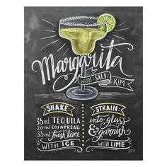 And here is the full margarita recipe illustration! 🍹 (Now I want to go back to…