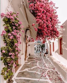 - Cool Space - Beautiful Mykonos town , Greece 🇬🇷 Share your dreams :. Beautiful Places To Travel, Beautiful World, Beautiful Gardens, Amazing Places, Romantic Travel, Fond Design, Mykonos Town, Mykonos Greece, Santorini