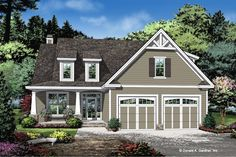 This cottage design floor plan is 2124 sq ft and has 4 bedrooms and has bathrooms. Cottage Style House Plans, Cabin House Plans, Cottage Floor Plans, Cabin Floor Plans, Cottage Style Homes, Best House Plans, Country House Plans, Country Style Homes, Cottage Design