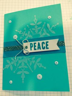 Stampin' Up! demonstrator Angie P's project showing a fun alternate use for the Watercolor Winter Simply Created Card Kit.