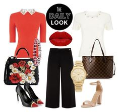 """""""Daily Look 03"""" by lecarg0830 on Polyvore featuring Precis Petite, Oasis, Ted Baker, Dolce&Gabbana, Kevin Jewelers, Winky Lux, Yves Saint Laurent, Louis Vuitton and Michael Kors"""