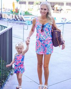 Taylor Brandenburg: Dinner date at the beach with my mini! Mother Daughter Matching Outfits, Mommy And Me Outfits, Cute Outfits For Kids, Girl Outfits, Family Outfits, Preppy Family, Toddler Fashion, Kids Fashion, Future Daughter