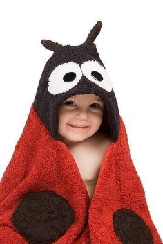 Ladybug Hooded Towel by RubADubBuddies on Etsy, $39.00