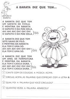 Companheiros da Educação: Atividades da Dona Baratinha Prontos para Imprimir - PARTE I