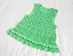 Green Tank Dress free crochet graph pattern
