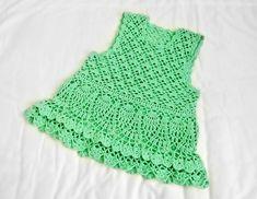 Green Tank Dress free crochet graph pattern