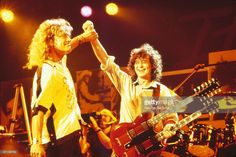 Percy & Jimmy at the 'Atlantic Records 40th Anniversary Show' in Madison Square Gardens, New York