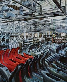 Vespa factory in Pontedera, 1960