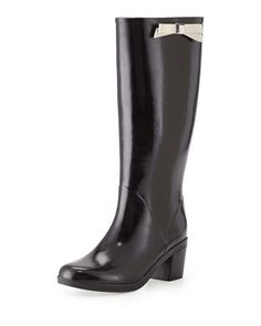 Love the Kate Spade New York Romi Rubber Bow Rain Boot, Black on Wantering.
