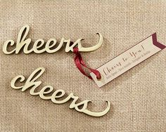 Cheers Antique Gold Bottle Opener Wedding Favors