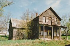 Old vacant house. Taken March 29, 2012 Calamine, Wisconsin by Jim Hiner.