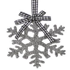 Silver Glitter Snowflake Tree Decoration http://www.ukchristmasworld.com/Shop/Christmas-Tree-Decorations/Christmas-Tree-Decorations/5185-Silver-Glitter-Snowflake-Tree-Decoration.html
