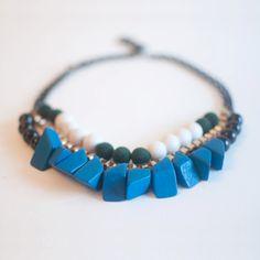Mixed Multi Row Necklace by sanwaitsai on Etsy #jewelryonetsy #handmadenecklace #handmadejewelry