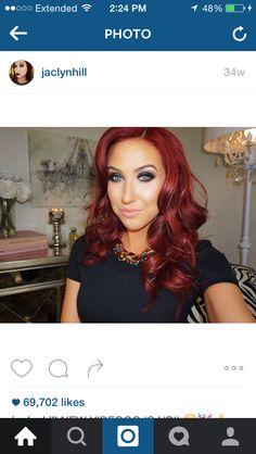 Red hair Jaclyn hill