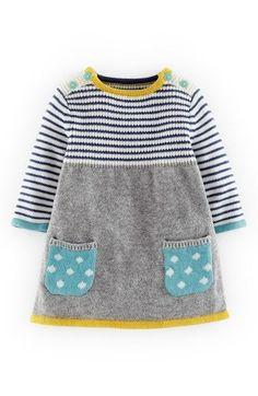 Mini Boden Sweet Knit Sweater Dress (Baby Girls). Kann man auch mal nachstricken, z.B. aus Sandnesgarn Lanett: https://www.babygarne.de/garne.php?artikel=sandnesgarn-lanett-babywolle