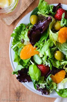 Summer Mixed Green Salad Recipe - If you have a hard time eating veggies then try this easy mixed green salad. Plus 3 simple tips for making a killer green salad you body will long for!