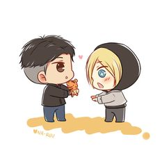 Otabek will shower Yurio in plushies XD I really love these two!!
