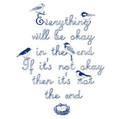 Karin Akesson - Everything Is Going To Be Ok Blue, Art Print, 30 x 40cm