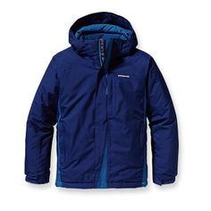 Patagonia Boys' Snow Flyer Jacket in Channel Blue - size XS.