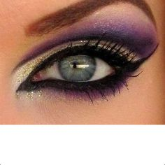 Pretty makeup for blue eyes!