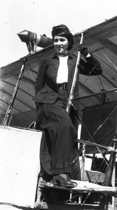 Therese Peltier,first woman to pilot a heavier than air aircraft and also the first passenger in a plane