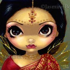 Fairy Face 108 Jasmine Becket Griffith Signed 6x6 Print   eBay