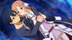 Sao Anime, Anime Cupples, Anime Love, Kawaii Anime, Arte Online, Online Art, Sao Kirito And Asuna, Sword Art Online Wallpaper, Fanart
