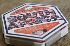 South African designer Ben Grib created 9 unique coasters for South Africa's 9 provinces. Each beermat was letterpressed and is waterproof. Typography, Lettering, Print Layout, African Design, Hand Illustration, Graphic Prints, Graphic Design, Essie, South Africa