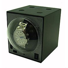 Compact Stackable Boxy Watch Winder with Power Adapter   Overstock.com Shopping - The Best Deals on Watch Winders